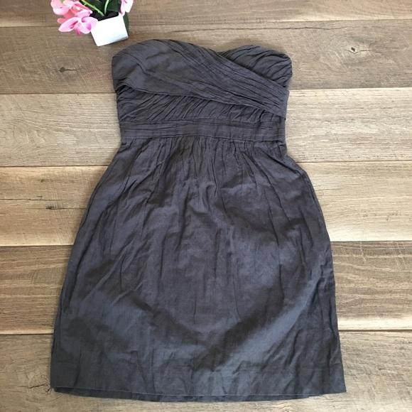 J. Crew Dresses & Skirts - J. Crew strapless cocktail gray mini dress size 0